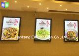Wand, die Schnellaluminiumheller Kasten-Zeichen des rahmen-LED für den Menü-Vorstand bekanntmacht Bildschirmanzeige hängt