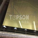 Piatto dorato rivestito dell'acciaio inossidabile dello specchio di buon colore di prezzi per la decorazione dell'hotel