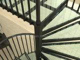 Escada em espiral de vidro Escadas de alumínio padrão da Austrália com trilhos de alumínio