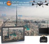 16: 9 kein blauer Bildschirm 10.1 Zoll LCD-Bildschirmanzeige für Luftfotographie