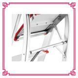 5 pasos de progresión plegables la escalera de aluminio