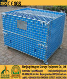 Lager-Speicher-Maschendraht-Behälter für Lager-Speicher, Maschendraht-Ladeplatten-Korb-Rahmen, Maschendraht-Sortierfach mit pp.-Blatt