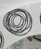 Loops Art Round Modern Wall Wall Mirror (LH-M17012)