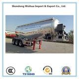Acoplado del petrolero del cemento del bulto de la aleación de aluminio de 40cbm con Fuwa 3 árboles