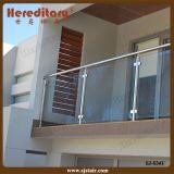 Cerca de vidro da balaustrada do balcão do aço inoxidável, trilhos de vidro da escada do borne do aço inoxidável (SJ-S341)