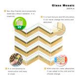 GoldDecirative Herringbone Muster-Glas-Mosaik-Fliese-Blätter für Fußboden