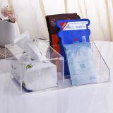 투명한 아크릴 조직 매표소 원격 제어 장식용 가면 상자