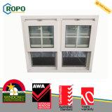 Faixa pendurada Windows da cor branca do PVC única com projeto das grades