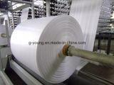 Tela tecida Polypropylene de empacotamento laminada branca do saco