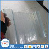 Strato ondulato del policarbonato di Buiding di protezione UV materiale libera del tetto