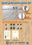 Tenda Rod registrabile curva dell'acquazzone del doppio dell'acciaio inossidabile