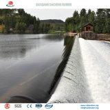 Widly usou a represa de borracha enchida água como a paisagem na cidade