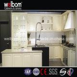 2016 Welbom estilo de América L Forma de madera del gabinete de cocina