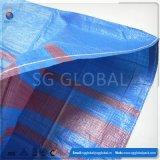 Sachet en plastique 50kg tissé par pp bleu de la Chine