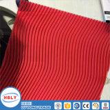 S-Form-rote Farben-Höhlung-Oberlichtsun-PC Blatt