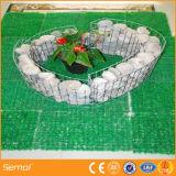 溶接されたGabionのボックスによって電流を通される石造りのケージのGabionの擁壁の塀
