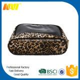 Femmes cosmétiques de sac d'impression de léopard avec le miroir