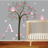 Murali smontabili autoadesivi su ordinazione della parete del vinile di arte dell'albero per la stanza della base di bambino