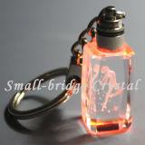 Laser LED Keychain (ND3128) del cristal 3D