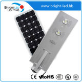 60W Smart Integrated Solar LED Street Light mit LiFePO4 Lithium Battery