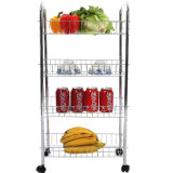 3-Tier Rolling Cart, White (JP-GC983C)