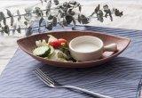 Lame de «série d'Iwate» de vaisselle de mélamine de 100 % - plaque Shaped de mélamine (IW13911-10)