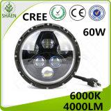 Luz de conducción redonda de la pulgada LED del CREE 60W 7 para campo a través