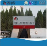 Aluminiumrestroom-flaches an der Wand befestigtes Zeichen