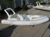 19feet 5.8m barco inflable de la costilla, barco de rescate del barco de pesca, barco de motor del deporte para la venta