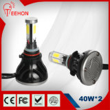 4 Seiten Emitting 40W LED Car Headlight (Base: HB4/9006)