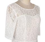 Hohe Renommee-Lieferanten-Spitze-weiße und schwarze große Kleider