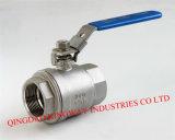 продетый нитку 2-PC полный шариковый клапан Bore, 1000wog, DIN