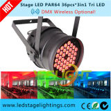 DMX kann drahtloser LED Stadium NENNWERT 36PCS*3W RGB 3in1 Edison LED durch Facotry beleuchten
