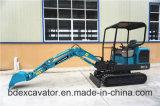 Mini máquina escavadora 1.8t de Baoding com a cubeta 0.06m3 para escavar