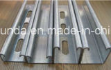 China Manufacturer Galvanized Steel C em forma Slotted Unistrut Channel