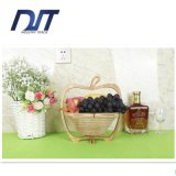 Cestino di frutta di bambù di tessitura pieghevole di picnic portatile