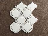 Белые мраморный плитки мозаики камня конструкции