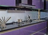 Cabinas de cocina de la chapa de la laca del MDF (zz-079)