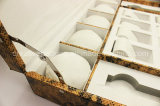 15 Schlitze überziehen Uhr-Kasten mit Leder