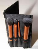 Herramientas duraderas del maquillaje de Gloden del cepillo del maquillaje de los cosméticos del cepillo de dientes de la venta de la Navidad de las técnicas 4PCS/Set del cepillo verdadero caliente más nuevo del ojo