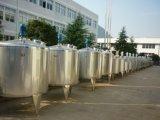 El tanque vestido inoxidable sanitario de la calefacción del acero 2000L del alimento