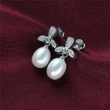 Orecchino d'acqua dolce naturale della perla di modo dell'argento sterlina