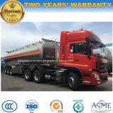 De op zwaar werk berekende Vrachtwagen van de Brandstof 50000 van het Aluminium Liter van de Tankwagen van de Legering