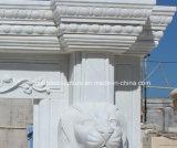 Leoni intagliati camino di marmo di pietra naturale di vendita caldi (SY-MF152)