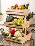 Shelving стойки овоща и плодоовощ супермаркета деревянный