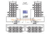 Aero- 50 Dual 15 '' Three Way Line Array, 18m m Plywood Speaker