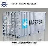 Modello di scala miniatura di plastica del container