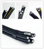 Алюминиевый двухшпиндельный/Triplex кабель 0.6/1kv ABC изоляции кабеля падения XLPE обслуживания