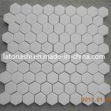 Weiße Marmormosaik-Porzellan-Fliese für Raum