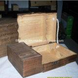 Rectángulo de madera de encargo exquisito del vino del diseño clásico fresco de lujo